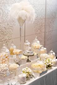 Candy Table For Wedding A Pretty Monochromatic Set Up For A Wedding Candy Table Makes It