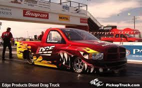dodge truck racing pickuptruck com edge products diesel drag truck