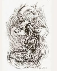 Anubis Tattoo Ideas Tattoo Stencil Egyptian Recherche Google Tattoo Pinterest