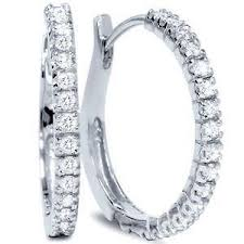 small diamond hoop earrings diamond hoop earrings ebay