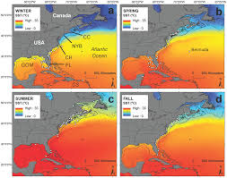 Florida Atlantic Coast Map by Seasonal Distribution And Historic Trends In Abundance Of White
