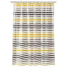 Target Gray Shower Curtain Stripe Shower Curtain Gray Yellow Room Essentials Target