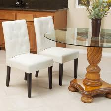 ivory chair gentry bonded leather ivory dining chair set of 2 by christopher