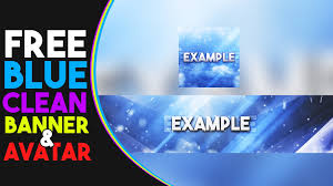 template youtube photoshop cc free blue clean banner and avatar template photoshop cc cs6 by