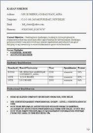 download resume format for fresher