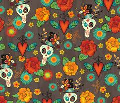 Dia De Los Muertos Pictures Dia De Los Muertos Fabric Jennartdesigns Spoonflower