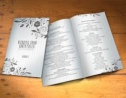 wedding program design template wedding program template psd 2 sides graphicfy