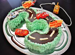 number 3 shaped cars themed birthday cake confessions of a