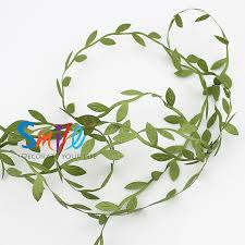 200m artificial green flowers leaves rattan diy garland wreaths