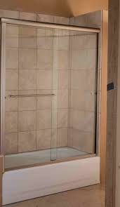 Bathtubs With Glass Shower Doors Bathroom Marvelous Sliding Shower Door For Bathtub Smoothing