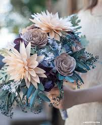 paper flower bouquet diy rustic paper bridal bouquet lia griffith