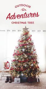 outdoor adventure themed christmas tree themed christmas trees