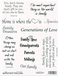 adhesive vellum family phrases supplies and gifts at genealogy today