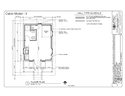 cabins romtec inc floor plan of cabin model with restroom and kitchen