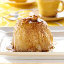 apple dumplings with sauce recipe taste of home