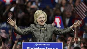 barring something unforeseen hillary clinton will be the