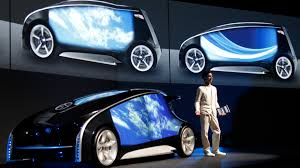 cars made by toyota toyota s concept car has touch screen doors toyota