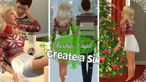 sims 3 create a sim christmas couple hollie u0026 nicholas
