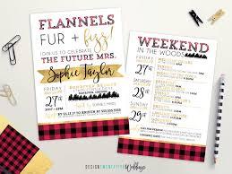 flannels fur u0026 fizz bachelorette party invitation 5x7