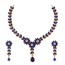 necklace with stone images Blue stone necklace set at rs 570 set stone necklace set id jpg