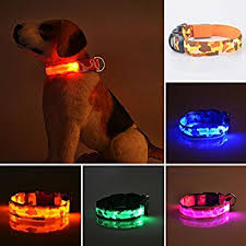 collar light for small dogs flashing dog collar 3 modes super bright waterproof led light up