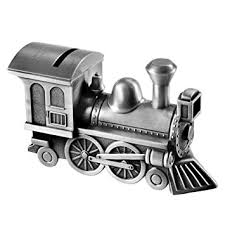 engraved piggy bank locomotive custom engraved piggy bank brushed