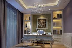 modern minimalist style interior design study room 3d house