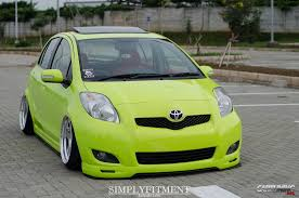 stanced toyota stance toyota yaris cartuning best car tuning photos from all