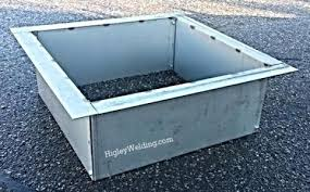 40 fire pit square fire pit liner