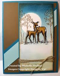 deer in the moonlight u2013 stampin u0027 up card