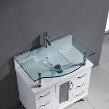 Glass Vanity Tops Design Element Huntington 30 Bathroom Vanity Espresso Finish