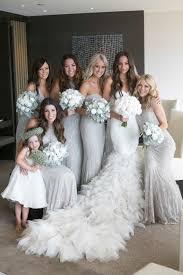 silver bridesmaid dresses color inspiration shining silver wedding ideas dresses