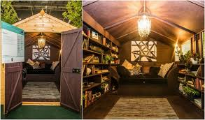 shed interior cosy and luxurious reading snug by dappled interiors wins the grand
