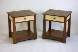 hand made black walnut and curly maple dresser and nightstands by