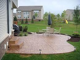 Stamped Concrete Backyard Ideas Backyard Landscape Design - Concrete backyard design ideas