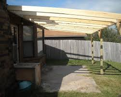 How To Build A Pergola Roof by How To Build A Patio Cover With A Corrugated Metal Roof Dengarden