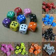 best new table games best promotion 10pcs 16mm multicolor acrylic round corner dice 6