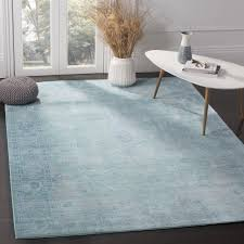 Safavieh Furniture Outlet Store Safavieh Valencia Teal Multi Overdyed Distressed Silky Polyester