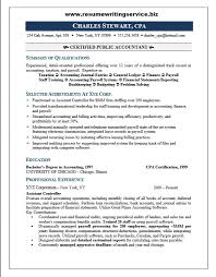 Staff Accountant Resume Samples by Job Resume Certified Public Accountant Resume Sample Public