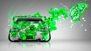 green subaru wrx subaru impreza wrx sti jdm butterfly lumia flowers car 2015