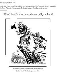 Iron Curtain Political Cartoon 1956 Us By Herbert Block Source The Washington Post