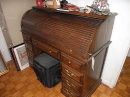 riverside roll top desk found on estatesales net riverside roll top desk with key bucket