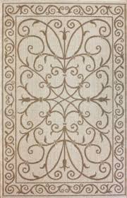 Ashworth Outdoor Rug Amazon Com New Area Rug Indoor Outdoor Beige 5x8 Wrought Iron