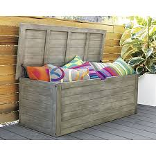 Cb2 Patio Furniture by Rooftop Deck Bunker Storage Chest Bench In Outdoor Furniture