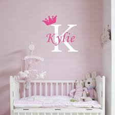 online shop personalized girls name crown monogram wall stickers online shop personalized girls name crown monogram wall stickers initial letter kids room nursery home decor aliexpress mobile