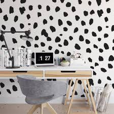 big dalmatian print wall mural dots animal print self zoom