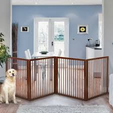 accessories wooden room divider pet gate and brown wood pet gates