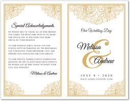 gold wedding programs revival gold wedding program template myexpression 35649