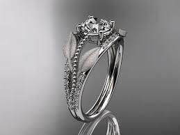 verlobungsring platin brillant platin diamant blatt und rebe ehering verlobungsring adlr75
