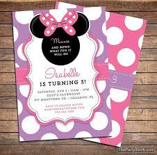 birthday invitations for girls minnie bowtique invitation minnie